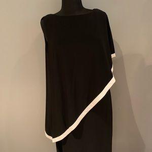 "One shoulder ""draped"" dress"